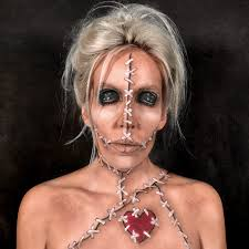 voodoo doll makeup creepy face