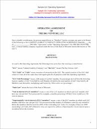 Business Operating Agreement Free Llc Operating Agreement Llc Operating Agreement Free Template 11