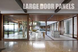 sliding doors can have large door panels