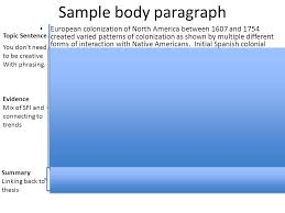 body paragraphs prepping for the essay brainstorm specific  5 sample