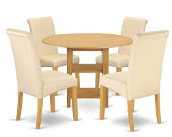 Winston Porter America Small Table 5 Piece Drop Leaf Solid Wood