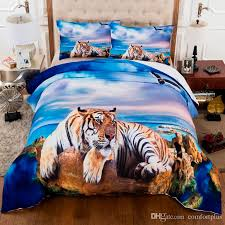 3d tiger beach duvet cover set bedding set quilt cover pillowcase us twin full queen king size uk single double king king bedspread sets full duvet from