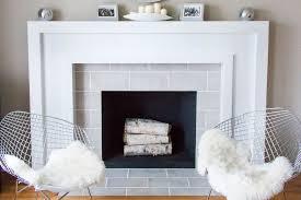 large rectangular tiles fireplace