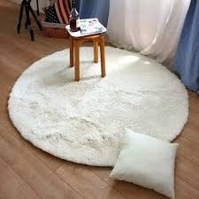 Super Soft Shaggy Rugs Round Area Modern Shag Cream Rug Living Room Carpet Bedroom Washable Solid Home Decorator Floor And Carpets