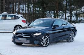 2018 mercedes benz coupe. exellent coupe 2018 mercedesbenz cclass coupe facelift spotted for first time on mercedes benz coupe