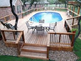 Image Simple Above Ground Pool With Surround Deckthis Is Exactly What Want In Our Field And Its Cheaper Then An Inground Pool Pinterest Get Inspired The Best Aboveground Pool Designs Backyard Above