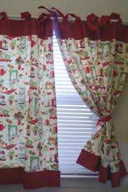 Red Kitchen Curtain Sets Retro 50s Kitchen Cafe Curtains Red Set Of 2 By Katherinemck