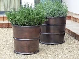 10 easy pieces bronze garden planters