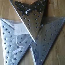 3 X Papier Lampe Stern Silber Weihnachtsstern Ohne Kabel Papierleuchte Advent