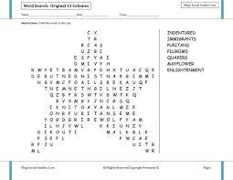 Puritans And Quakers Venn Diagram Original 13 Colonies Star Shaped Word Search Social