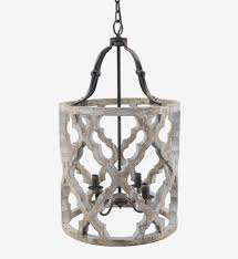 lighting antique 45 light gray wood and iron valencia chandelier for