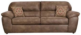 Casual Faux Leather Plush Sofacorinthian   Wolf And Gardiner intended for  Corinthian Sofas (Image 2