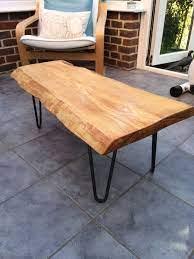 waney edge oak slab table tops wood