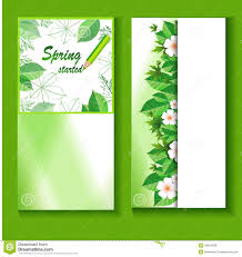 Spring Flyer Template Flyer Template With A Fresh Spring Background Stock Vector 6