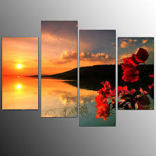 wall art paintings for living roomEurope style for Framed Living Room Canvas Art Prints Sunset