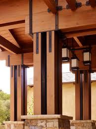 Pillars For Home Decor Decorative Pillars For Homes Glamorous Brown House Entrance Door