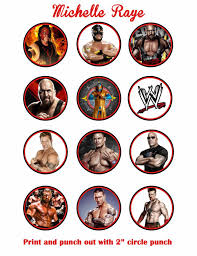 Small Picture Printable WWE Cupcake Toppers Birthday Party DIY John Cena The