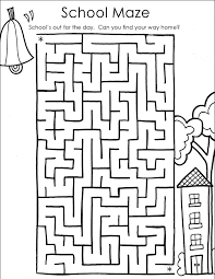 school coloring pages. Modren School School Maze Printable To Coloring Pages