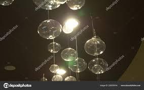 Lampen Nahaufnahme Crystal Moderner Kronleuchter Detail