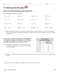 period 7 4 homework practice solve and write multiplication equations solve each equation check your solution 1 7𝑎 63 2 14𝑘 0 3