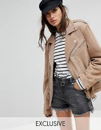 reclaimed vintage revived suede jacket a3f1 for women
