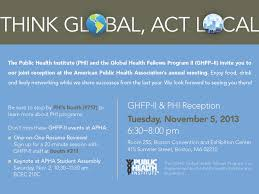 Join Phi At Apha 2013 In Boston - Public Health Institute