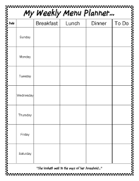 weekly menue planner a gift for you an editable weekly menu planner sheri graham
