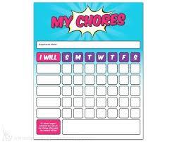 Toddler Chore Chart Template Toddler Chore Chart Multiple Child Chore Chart Template