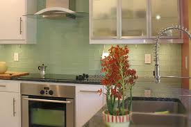lush suf green 3x6 glass subway tile in surf kitchen wall installation