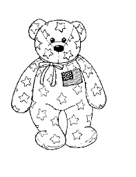 Small Picture Patriotic coloring pages american teddy bear ColoringStar
