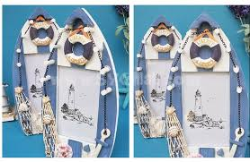 mediterranean style boat shaped photo frame