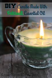 diy candle made with patchouli essential oil if you are looking to get into candle