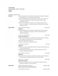 Assembly Resume Resumes Line Worker Example Machine Operator Sample