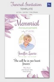 Funeral Invitation Template Memorial Invitation Templates Purplemoonco 9