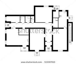 modern office floor plans. Modern Office Floor Plan Without Furniture For Your Design. Vector Black And White Blueprint. Plans T