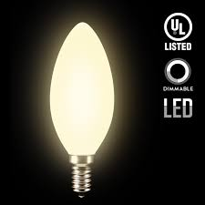 led dimmable frosted glass filament candelabra bulb 4 5w 60w equiv c11 decorative milky candle bulb ul listed 2700k soft white 500lm 360 beam angle