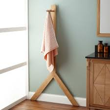 Free Standing Bathroom Accessories Bathroom Accessories Towel Holders Diaz Standing Teak Towel