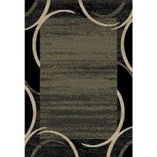 pasha collection green 5 ft x 7 ft area rug