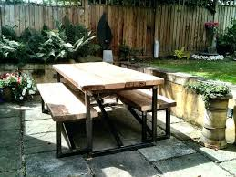 industrial style outdoor furniture. Industrial Style Outdoor Furniture Reclaimed Dining Table And Benches .