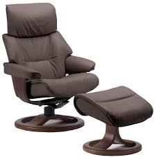 fjords grip leather ergonomic recliner chair and ottoman scandinavian lounger