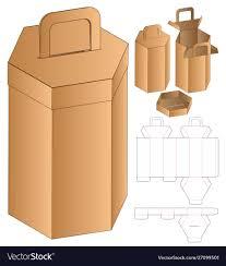 Box Design Template Illustrator Hexagon Box Packaging Die Cut Template Design 3d