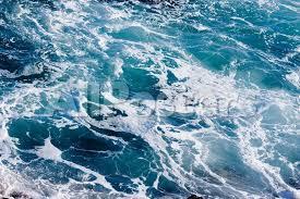 Deep Blue Ominous Ocean Water Background Image