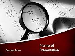 Powerpoint Template Research Financial Fraud Research Free Presentation Template For