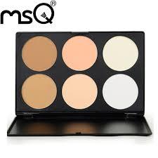 5pcs lot msq basic 6 colors concealer foundation makeup palette best quality powder cosmetic