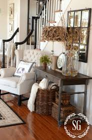 Entryway furniture ideas Rustic Entryway 9 Baskets Add Practical Attractive Storage Homebnc 27 Best Rustic Entryway Decorating Ideas And Designs For 2019