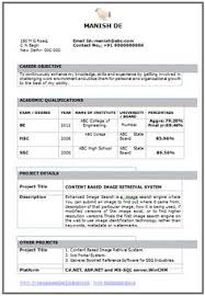 Awesome One Page Resume Sample For Freshers | Career | Pinterest ...