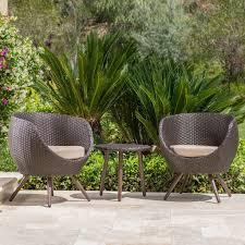 gdf studio patio furniture 3 piece outdoor modern wicker conversation set