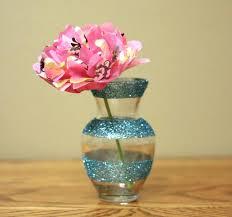 vase decoration ideas glass vase with glittery ribbon vase decoration ideas