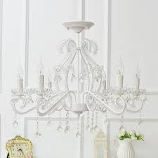 modern kid chandelier 6 light candle style flush mount crystal chandelier with crystal