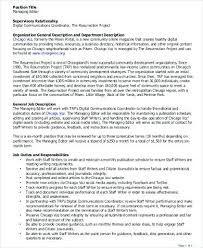 Managing Editor Job Description Classy Magazine Editor Jobs Darktablestop